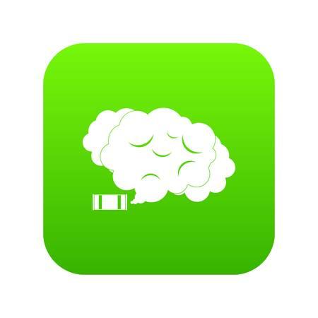 Tear gas icon digital green.