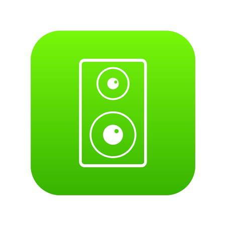 Subwoofer icon digital green for any design isolated on white vector illustration Illustration