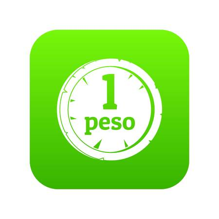Peso icon digital green for any design isolated on white vector illustration