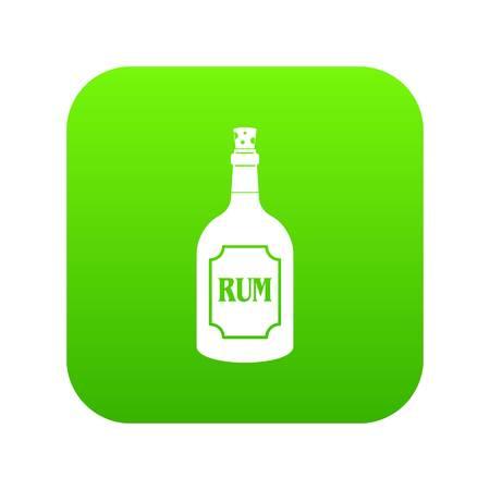 Rum icon digital green.  イラスト・ベクター素材