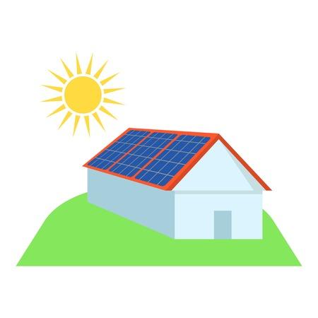 Alternative energy icon. Flat illustration of alternative energy vector icon for web