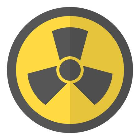 Radioactive icon. Flat illustration of radioactive vector icon for web Illustration