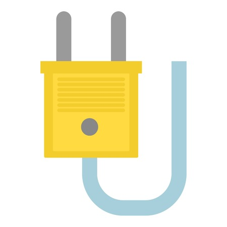 Single socket icon. Flat illustration of single socket vector icon for web