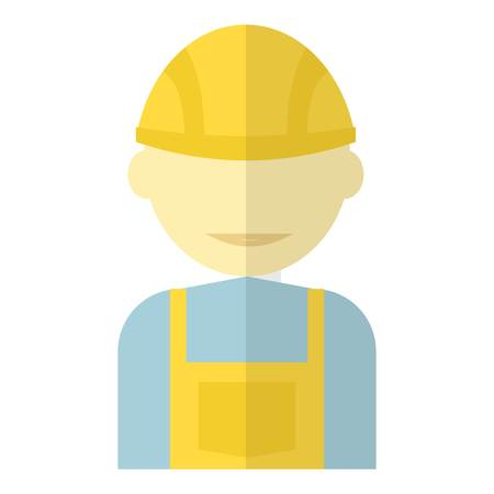 Worker icon. Flat illustration of worker vector icon for web Illustration