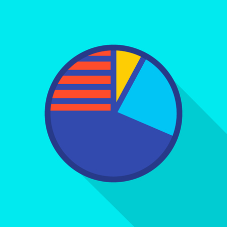 Circle diagram icon. Flat illustration of circle diagram vector icon for web