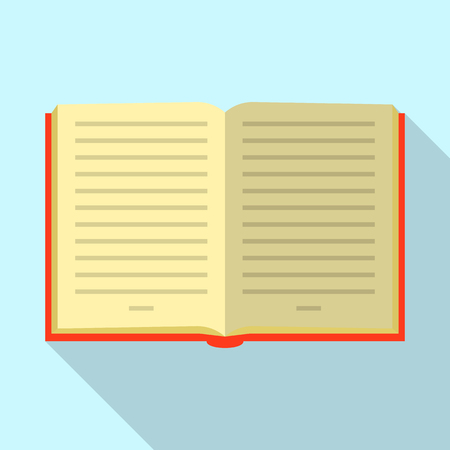 Opened book icon. Flat illustration of opened book vector icon for web Ilustracja