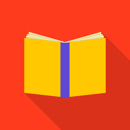 Book cover icon, flat style.