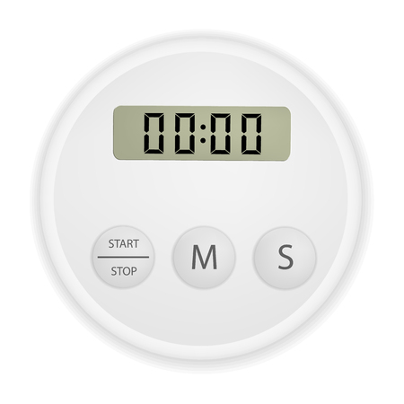 Electronic timer mock up, realistic style.