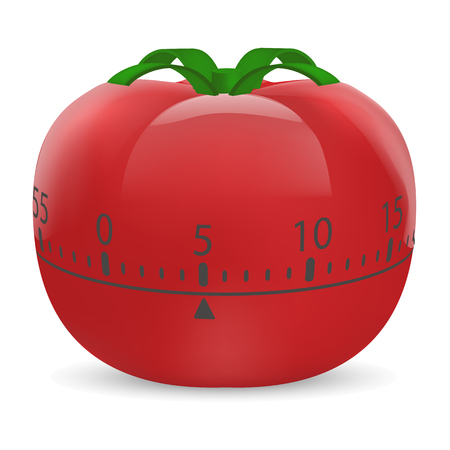 Cooking timer mock up, realistic style. Illustration