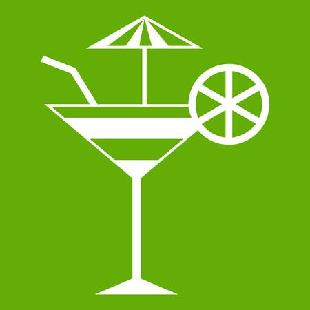 Fruit cocktail icon green