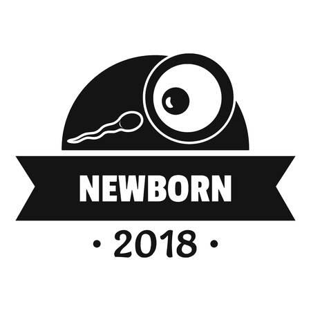 Newborn text with seminal fluid design, simple black style