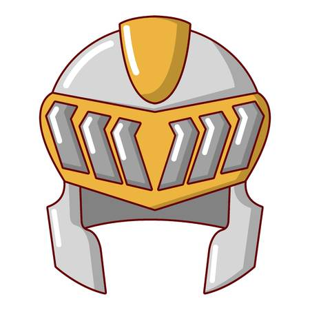 Knight helmet medieval icon, cartoon style Illustration