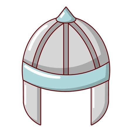 Knight helmet guard icon, cartoon style