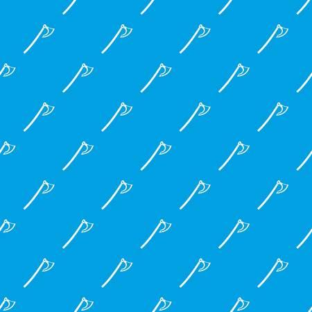 Axe pattern seamless blue Illustration