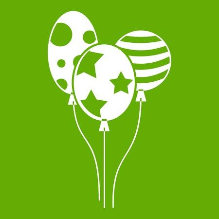 Holiday balls icon green Stock Photo