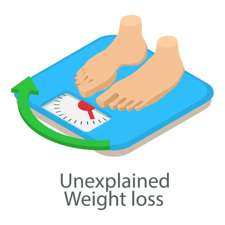 Unexplained weight loss icon, isometric style