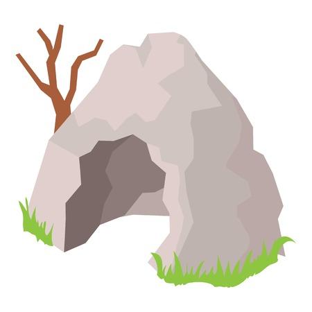 Cave icon, isometric style 일러스트