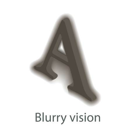 Blurry vision icon, isometric style