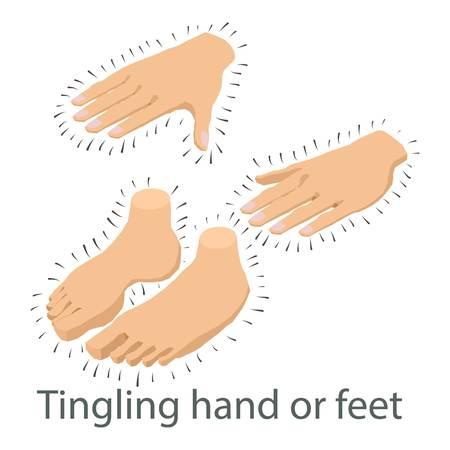 Tingling limb icon, isometric style Illustration