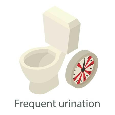 Frequent urination icon, isometric style Illustration