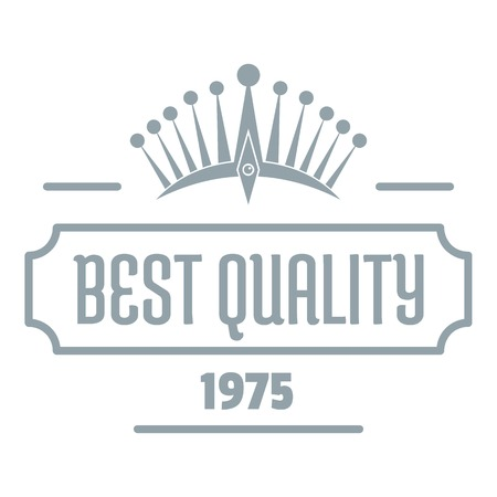 Best quality logo, simple gray style
