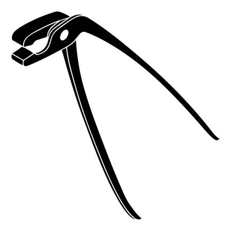 Medical pliers icon. Simple illustration of medical pliers vector icon for web design isolated on white background