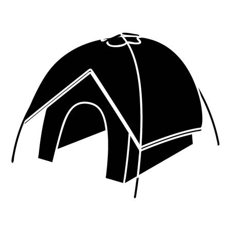 Tent icon, simple style