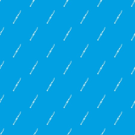 Stainless medical scalpel pattern seamless blue Illustration