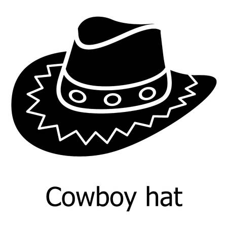 Cowboy hat icon, simple black style