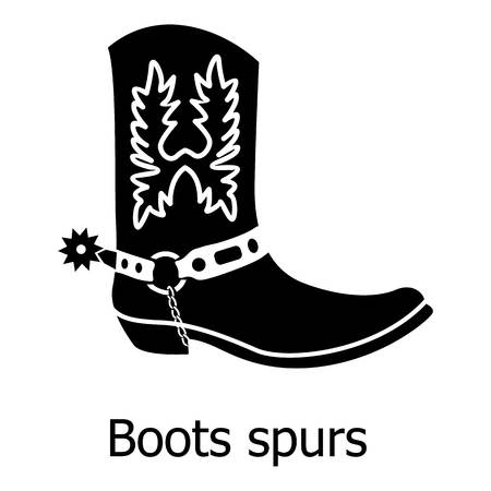 Boot spurs icon, simple black style Vector illustration.