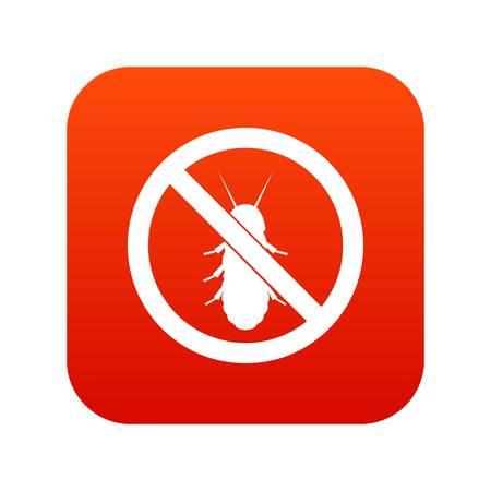 No termite sign icon digital red