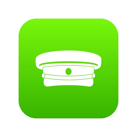 Military hat icon digital green
