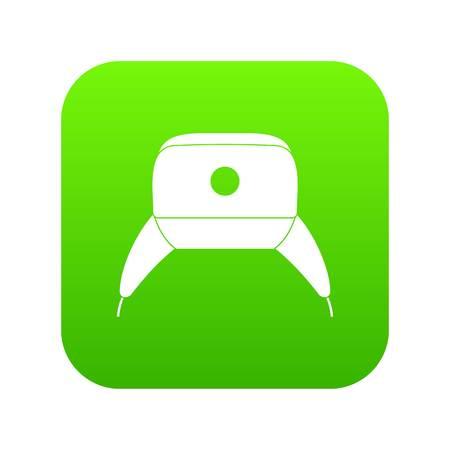 Ear flap hat icon digital green design