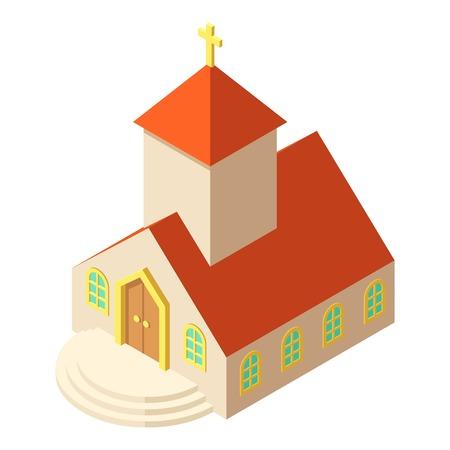 Eastern church icon, isometric style illustration. Illustration