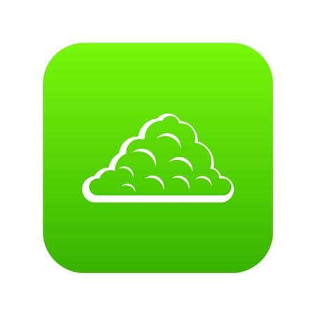 One cloud icon digital green.