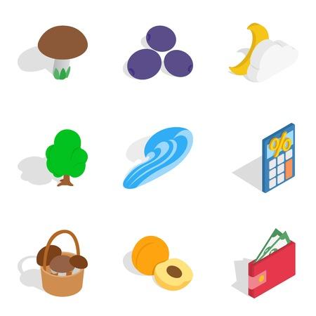 Doable icons set, isometric style.