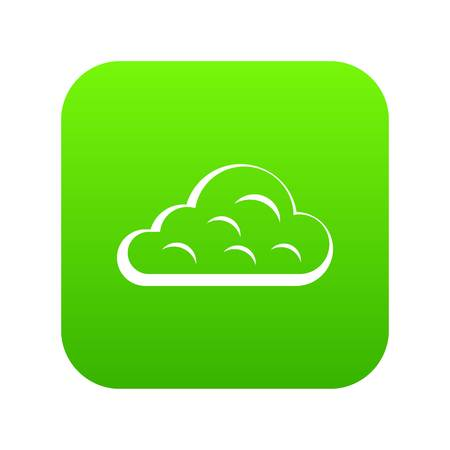 Rainy cloud icon digital green for any design isolated on white vector illustration