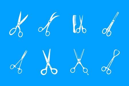 Scissors icon vector illustration set