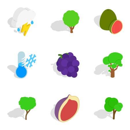 Ecological elements icons set vector illustration