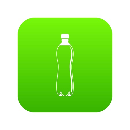 Water bottle icon digital green for any design isolated on white vector illustration Illustration
