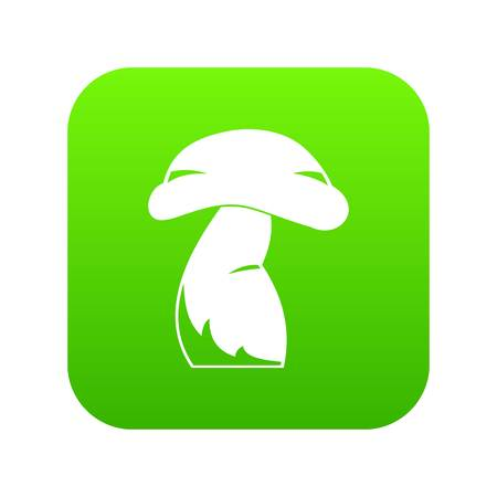 Good mushroom icon digital green for any design isolated on white vector illustration