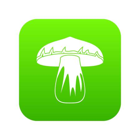 Forest mushroom icon digital green for any design isolated on white vector illustration