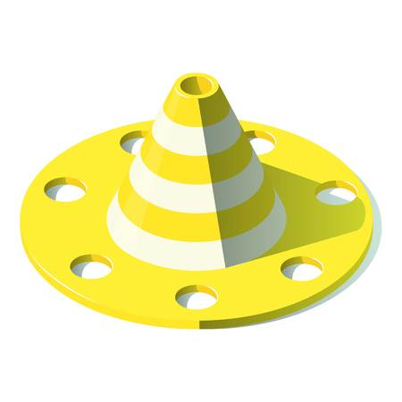 Road cone icon. Isometric illustration of road cone vector icon for web