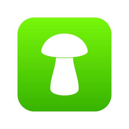 Fungus boletus icon digital green for any design isolated on white vector illustration