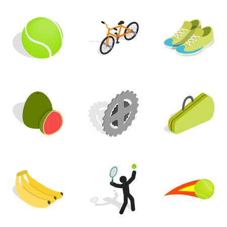 Recompense icons set. Isometric set of 9 recompense vector icons for web isolated on white background