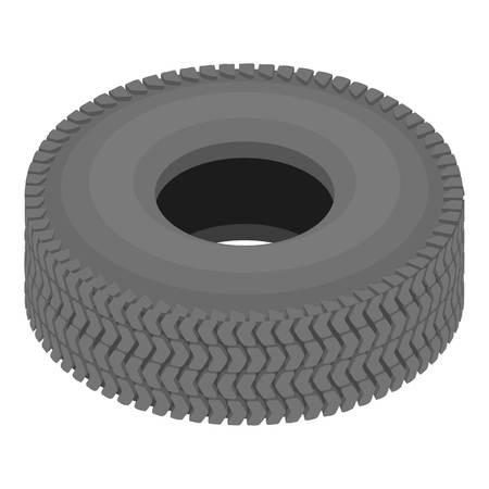 Rubber tire icon, isometric style Vettoriali