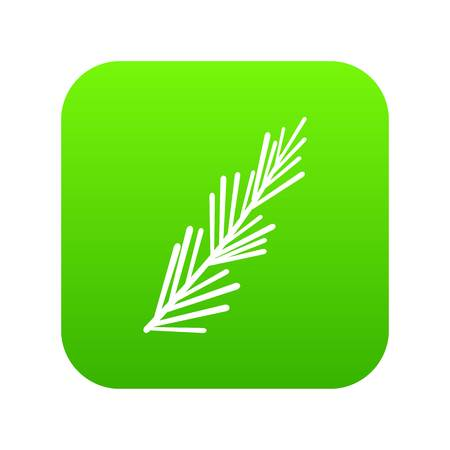 Rosemary spice icon digital green