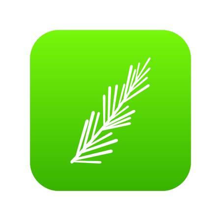 Rosemary spice icon digital green