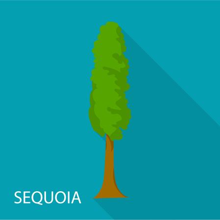 Sequoia icon. Flat illustration of sequoia vector icon for web