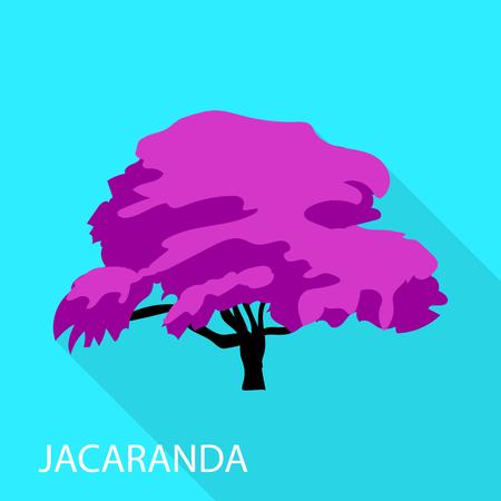 Jacaranda icon, flat style Illustration
